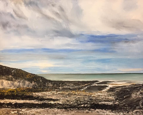 Limeslade Bay - Oil on Canvas