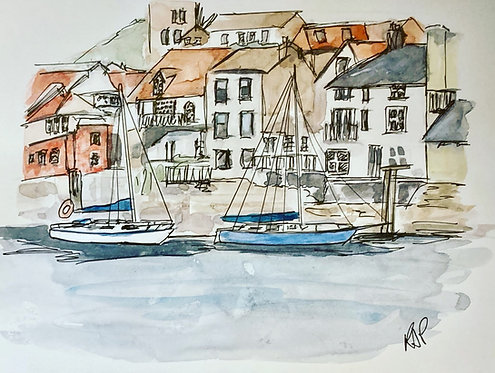 Whitby Waterfront - Fine Art Print