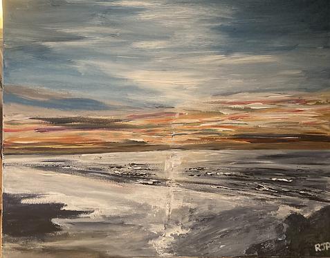 Saunton Sands Print on Canvas