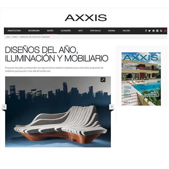 TOPOSOFA 100 DESIGNS OF 2014, AXXIS
