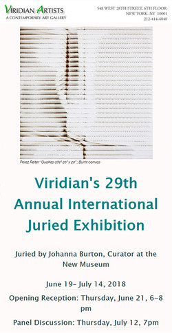 Viridian Artists, NYC, 2018