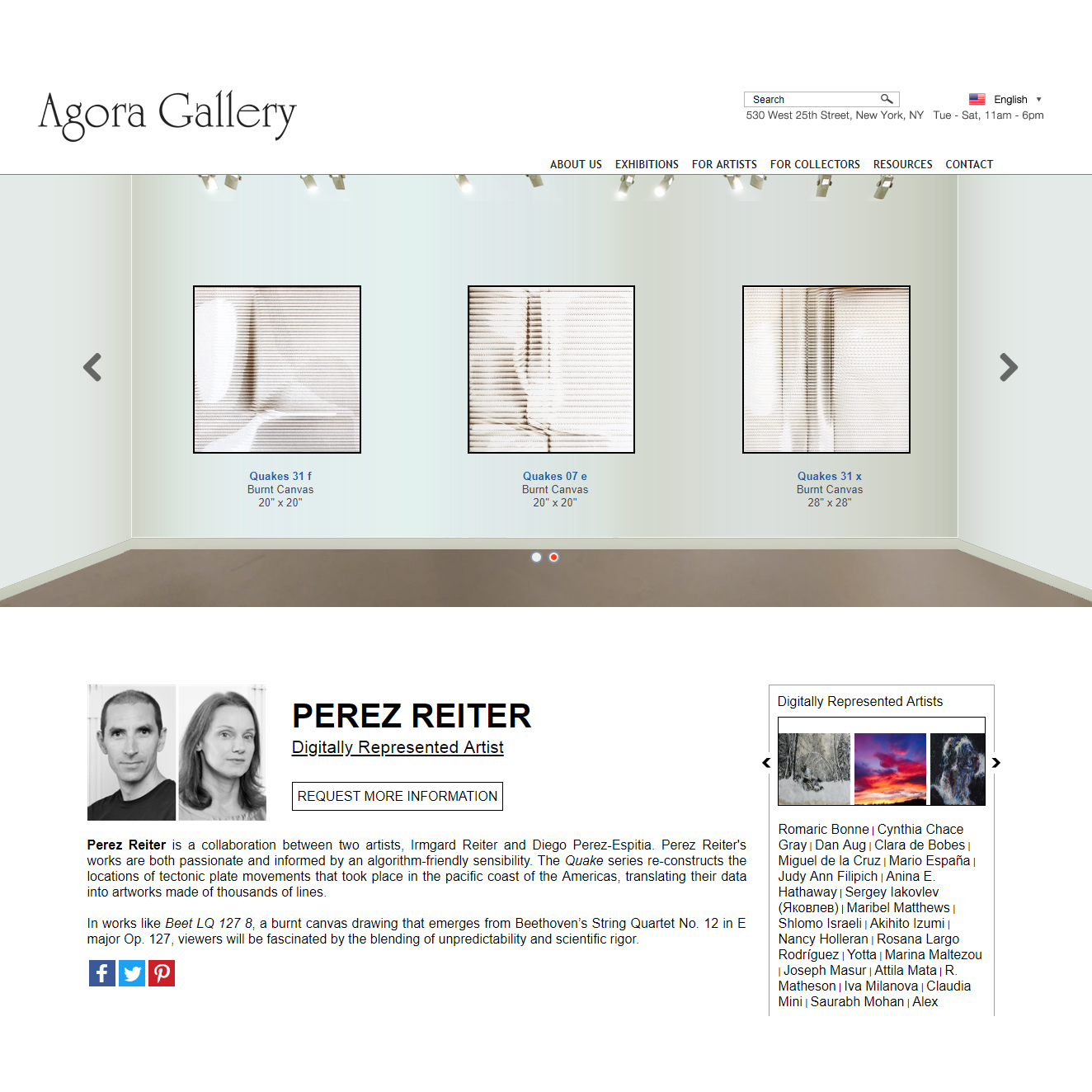 Represented by AGORA GALLERY