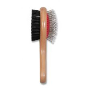 Ancol Wooden Handle Double Sided Brush