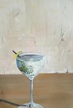 Frosty glas with silky gin