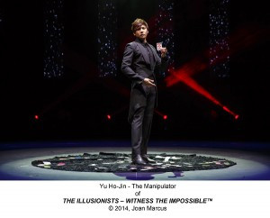 Illusionists, The: ? Witness the Impossible Marquis Theatre Synopsis: Seven illusionists enact mind-bending acts of magic and illusion; many have never been seen before. This critically acclaimed production is a mix of outrageous, jaw-dropping acts of grand illusion, levitation, mind-reading, disappearance and a full-view water escape.  Cast List: The Manipulator, Yu Ho-Jin The Anti-Conjuror, Dan Sperry The Trickster, Jeff Hobson The Escapologist, Andrew Basso The Inventor, Kevin James The Warrior, Aaron Crow The Futurist, Adam Trent