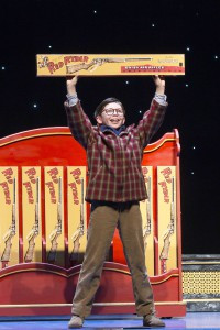 Dylan Boyd as Ralphie Parker in A Christmas Story, The Musical. Photo by Jesse Scheve.