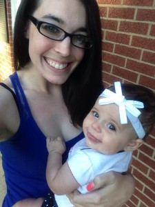 Samantha and her infant daughter Aubree Lynn