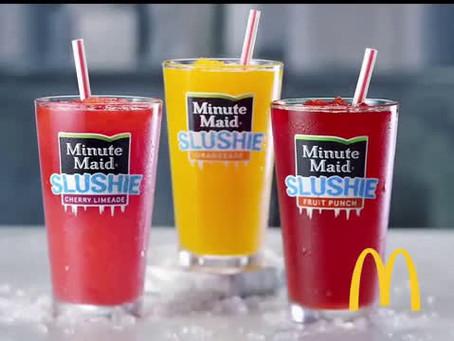 McDonald's Minute Maid Frozen Slushies are Back