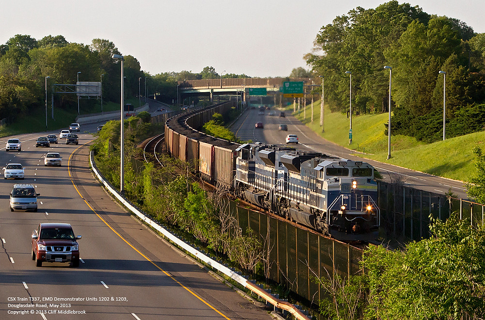 Cargo Train by Highway