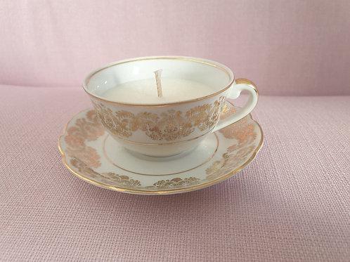 Bougie Vintage Porcelaine