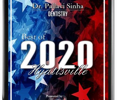 Press Release: Dr. Pallavi Sinha 2020 Best of Hyattsville