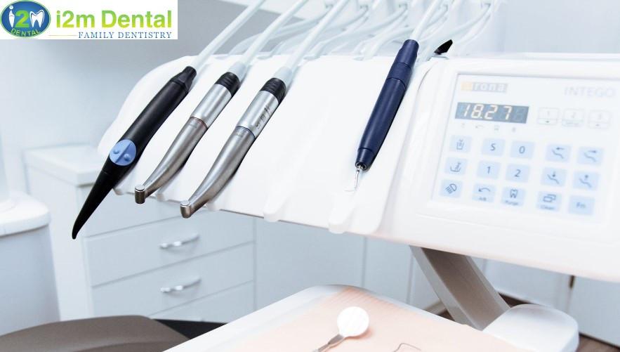 Dental tools in dentist's office