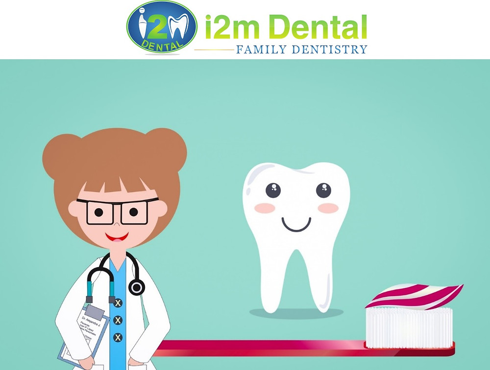 i2m dentist and a smiling tooth