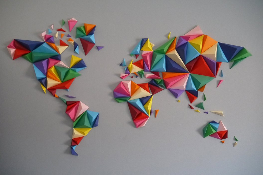 Carte du monde multicolore OWARLD