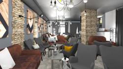 bar a chicha entièrement rénové et décoré par Tiffany Fayolle architecte d'intérieur et décorateur à
