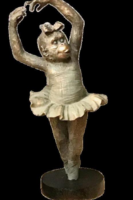 Sculpture 'Mlle Singe au Ballet M1