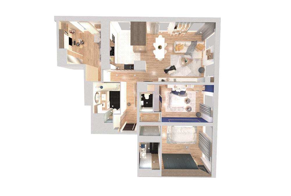 Architecte d'intérieur pour aménagement d'un appartement en VEFA à Lyon