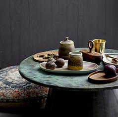 table basse effet marocain avec motifs t