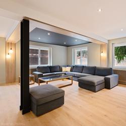 Salon rénové par l'agence TGF, projet mené par tiffany fayolle architecte d'intérieur
