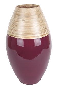 Vase en Bambou Bordeau