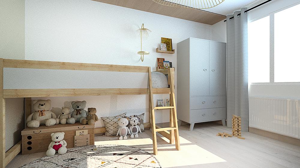 Aménagement d'une chambre d'enfant dans une décoration douce