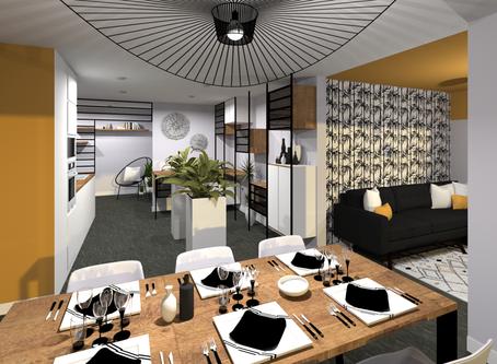 Réaménagement complet d'un appartement à Annecy-le-Vieux par Tiffany Fayolle.