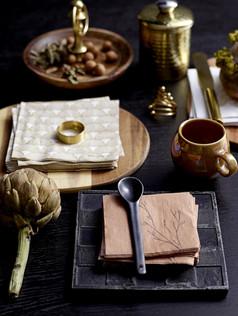 art de la table avec serviette set plate
