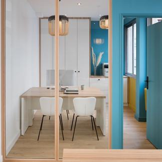 Rénovation et aménagement de bureaux en coworking à Lyon par Tiffany Fayolle, architecte d