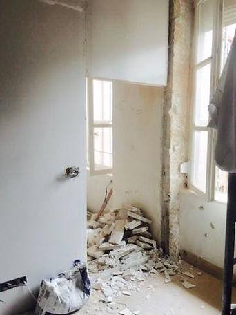 chantier de renovaton d'appartement à Lyon par Tiffany Fayolle décorateur à Lyon Tarifs et prestations sur le site de l'architecte d'intérieur