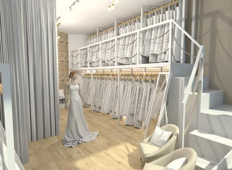Projet d'aménagement de boutique de robes de mariée