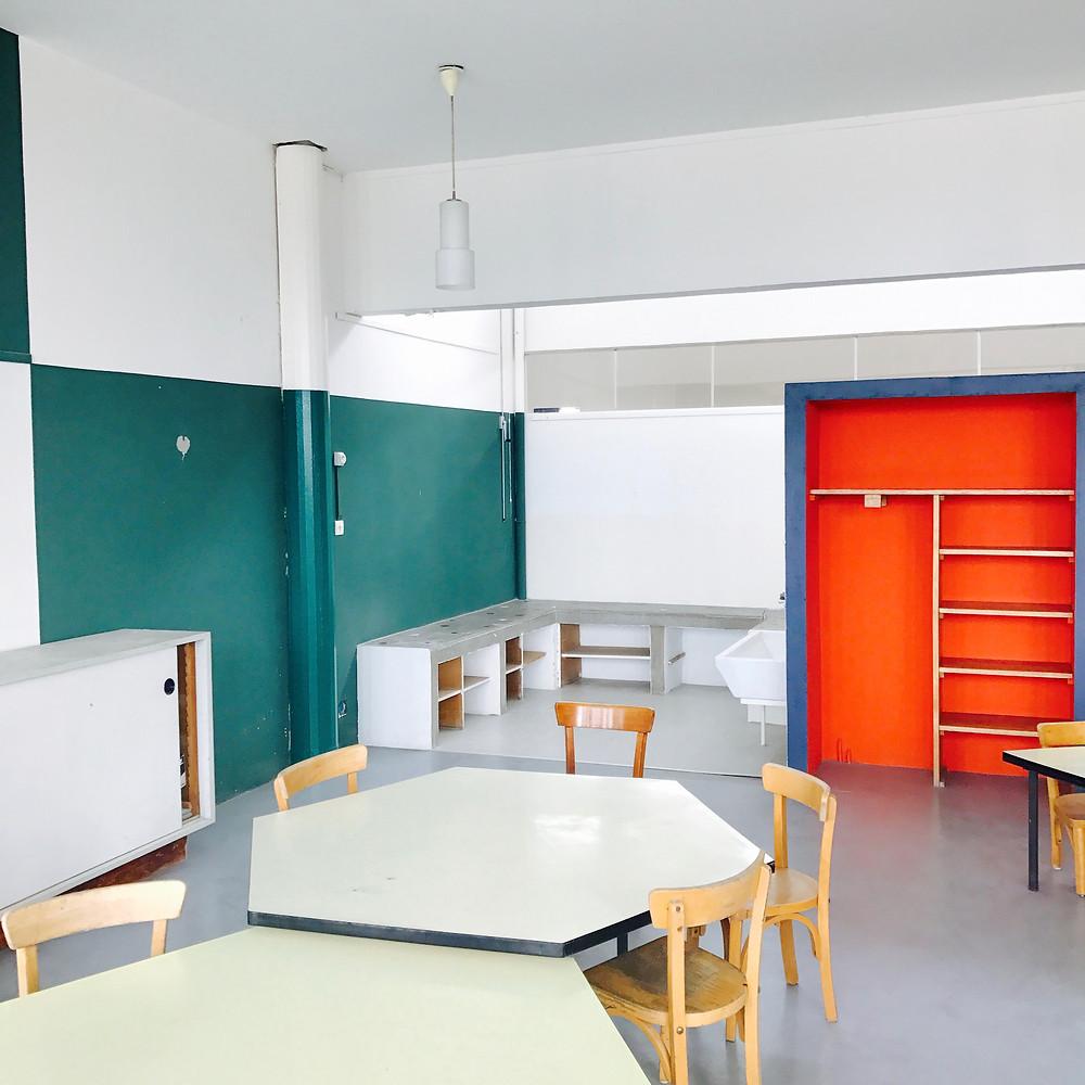 Ecole signée Le Corbusier à Firminy sur le toit de l'unité d'habitation, photographie réalisée' par Tiffany Fayolle architecte d'intérieur à Lyon