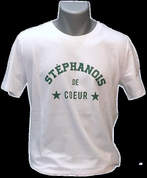 Tee » Homme Blanc Stéphanois De Shirt Vert « Coeur 7yvf6Ybg