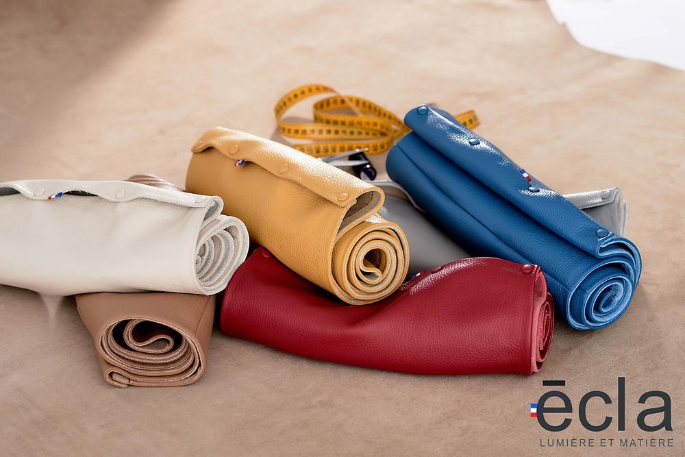 cuir, acier, cuivre, matières nobles, couleurs, savoir faire français.