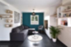 salon avec peinture Farrow and ball de t