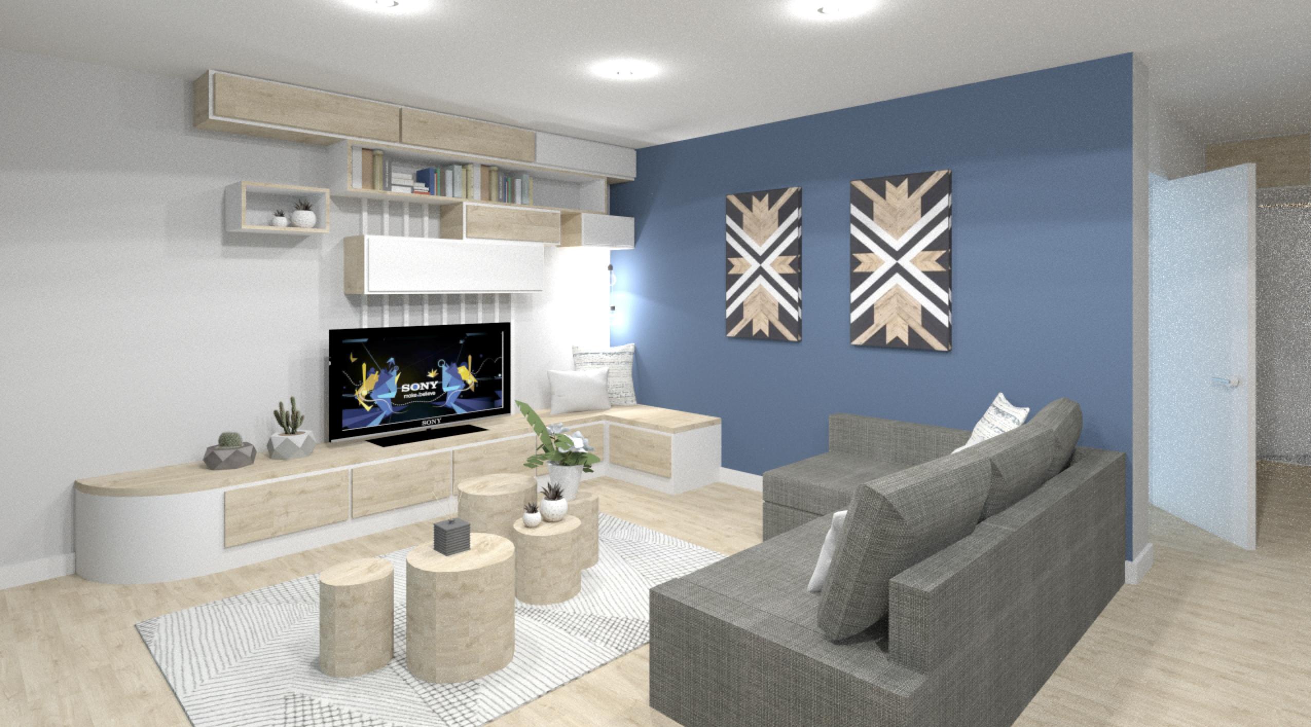 salon d'un appartement entièrement rénové par l'agence Tgf de l'architecte d'intérieur et décoratric