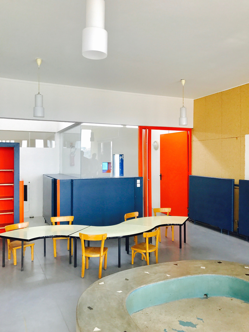 Ecole méthode Freinet par Le Corbusier. Photographie Tiffany Fayolle architecte d'intérieur