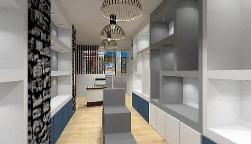 amenagement commercial d une boutique entierement re amenagee à Lyon par l architecte d intereur Tiffany Fayolle à Lyon