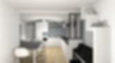 verrière pour délimiter l'espace piano faisantla jonction entre la salle à mange et la cuisine