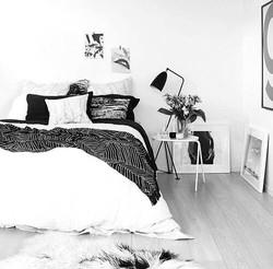 Chambre inspiration interieur monochrome noir et blanc