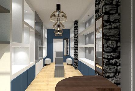 Agencement de commerce à Lyon amenagemet par Tiffany Fayolle architecte d'intérieur et décorateur à Lyon