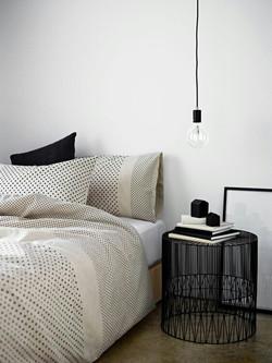 chambre motif graphique inspiration interieur monochrome noir et blanc
