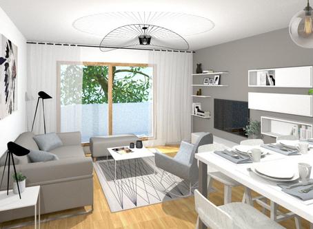 Un nouveau projet de décoration d'intérieur sobre et lumineux pour l'agence.