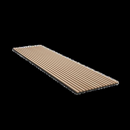 Panneau Acoustique avec revêtement en tasseaux finition bois - Chêne Clair/Noir