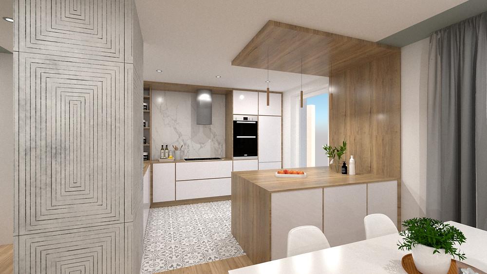 Aménagement d'une cuisine pour un appartement en VEFA