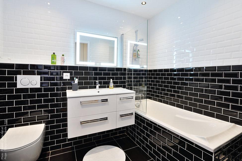 rénovation de salle de bains avec carrea