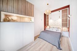 aménagement de petite chambre parentale à lyon, tiffany fayolel architecte d'intérieur et