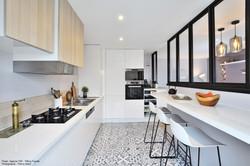 rénovation de cuisine ouverte avec verri