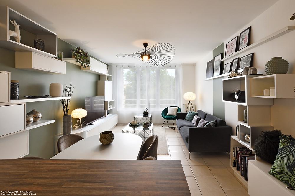 Rénovation d'un appartement à Lyon avec peinture réalisée par Grégory Pey Ravier.
