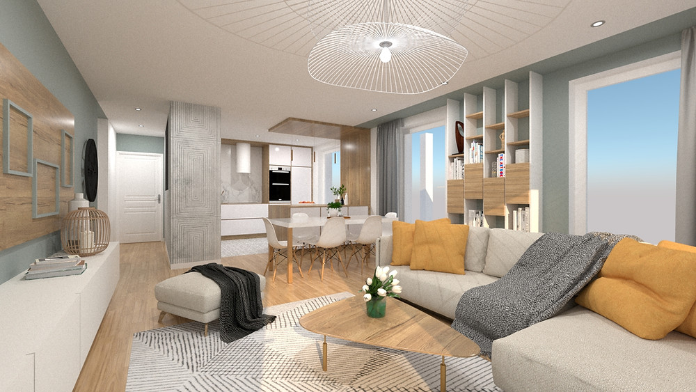 Architecte d'intérieur pour amélioration et optimisation de plans d'un appartement en VEFA à Lyon