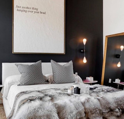chmabre sombre nuance contraste inspiration interieur monochrome noir et blanc